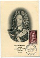 10140  FRANCE N° 1008  Saint-Simon  PJ Du 5.2.55  TB - Maximum Cards