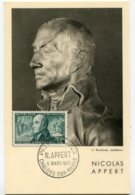 10141  FRANCE N° 1014  Nicolas APPERT    PJ Du 5.3.55  TB - Maximum Cards