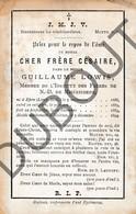 Doodsprentje Pater/Frère Césaire / Guillaume Lowis °1866 Epen †1894 Malines / Mechelen (F131) - Décès