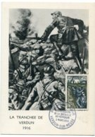 10144  FRANCE N° 1053  40ème Anniversaire De La Bataille De Verdun   PJ   Du 3.3.56  TB - Maximum Cards