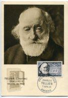 10145  FRANCE N° 1056  Charles Tellier   PJ   Du 7.4.56  TB - Maximum Cards