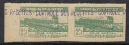 ALGERIE COLIS POSTAL N°119 N** En Paire Variété Timbres Non-dentelés LUXE - Algérie (1924-1962)
