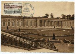 10147  FRANCE N° 1059  Le Grand Trianon  Versailles   PJ   Du 14.4.56  TB - Maximum Cards