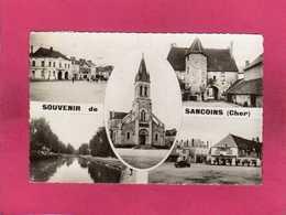 18 Cher, Souvenir De Sancoins, Multivues, 1952, (Combier) - Sancoins