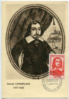 10149  FRANCE N° 1068  Samuel De Champlain   PJ   Du 9.6.56  TB - Maximum Cards