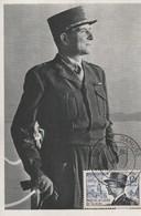 CARTE MAXIMUM - Maréchal De Lattre De TASSIGNY - 1954 - Maximum Cards