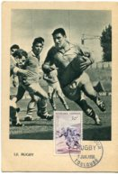 10150  FRANCE N° 1074  Rugby   PJ   Du 7.7.56  TB - Maximum Cards
