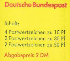 BRD MH 22 I P OZ, Postfrisch ** - Markenheftchen