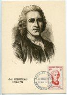 10153  FRANCE N° 1084  Jean-Jacques ROUSSEAU   PJ   Du 10.11.56  TB - Maximum Cards