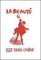 Carte Postale LA BEAUTÉ EST DANS LA RUE Affiche Mai 68 Postcard May 1968 1/7 - Evènements