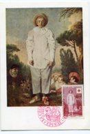 10154  FRANCE N° 1090  Gilles De WATTEAU  Oblitération Spéciale  PJ   Du 8.12.56  TB - Maximum Cards