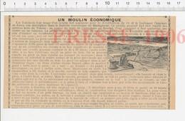 Presse 1906 Tonkin Moulin à Tiou-tiou (à Eau) évocation Lieutenant Carpeaux 223CHV3 - Vieux Papiers