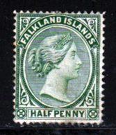 Falkland 1891 Yvert 8 (*) B Neuf Sans Gomme - Falkland