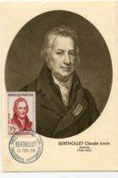 10158  FRANCE N° 1149  Claude-Louis BERTHOLLET    PJ   Du 15.2.58  TB - Maximum Cards