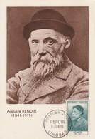 CARTE MAXIMUM - Auguste RENOIR - 1955 - Maximum Cards