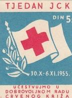 Yugoslavia Label Stamp Red Cross Week , Rotes Kreuz 1955 - Liefdadigheid
