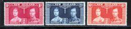 Nouvelle-Zelande 1937 Yvert 233 / 235 ** TB - 1907-1947 Dominion