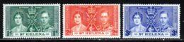 Sainte H�l�ne 1937 Yvert 93 / 95 ** TB - Saint Helena Island