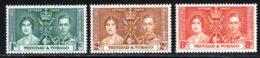 Trinite 1937 Yvert 135 / 137 ** TB - Trinité & Tobago (...-1961)
