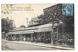 ENGHEIN Les BAINS (cpa 93)  Café Restaurant De La Cascade Du Lac  ## TRES  RARE ##   -  L 1 - Enghien Les Bains