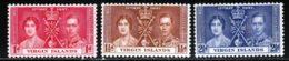 Iles Vierges 1937 Yvert 71 / 73 ** TB - British Virgin Islands
