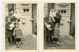 Famille Enfant Garçon Fille Mère Poupée Doll Jouet Toy Locomotive Train Bois Lot 2 Photos - Personnes Anonymes