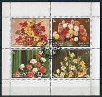 FLORES FLOWERS SHARJAH MICHEL 1216 / 1219 A YEAR 1972 OBLITERES -LILHU - Végétaux
