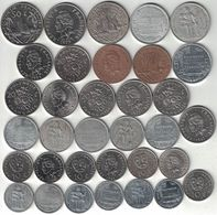 French Polynesia Collection Of 34 Coins 1965-2009 All Listed & Different - Polynésie Française