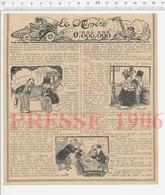 2 Scans Presse 1906 Humour Loto Loterie Nationale Cul-de-jatte Généalogie Mahuchard 223CHV3 - Vieux Papiers