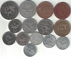 New Caledonia Collection Of 14 Coins 1949-2012 All Listed & Different - New Caledonia