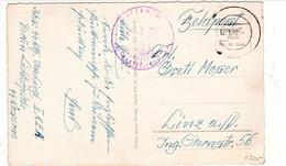 Geburtstags Karte, Stempel Waffen SS, Absender: RHF.... Berlin - Lichterfelde, SS Kaserne  Nach Linz / Donau - Weltkrieg 1939-45