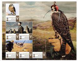 Ukraine 2018, Fauna, Falconry, Sheetlet Of 6v - Ukraine