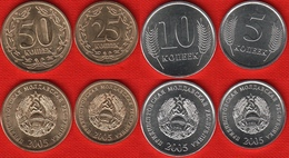 Transnistria Set Of 4 Coins: 5 - 50 Kopeek 2005 UNC - Moldova