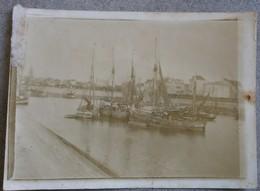 Vlaamse Kust. Originele Oude Foto Van Haven (te Identificeren) - Bateaux