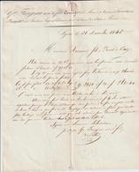 AA163, Rhône, Lyon, Fréjean & Fils, Mines De Cuivre De Lunas Hérault: Fonderies Et Forges à Vienne Isère 1845 - France