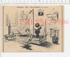 Presse 1906 Humour Sport En Chambre Navire Formidable Marins Port Phare Lighthouse Ancre Marine Encre 223CHV3 - Vieux Papiers