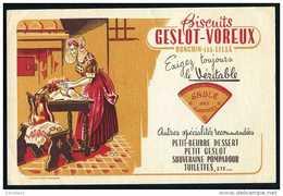 BUVARD - Sucreries & Gateaux - BISCUITS GESLOT - VOREUX - RONCHIN - LES - LILLE - Sucreries & Gâteaux