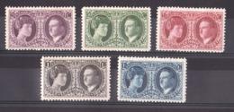 Luxembourg - 1927 - N° 187 à 191 - Neufs * - Exposition Philatélique - Grande Duchesse Et Prince Félix - Luxembourg