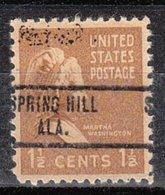 USA Precancel Vorausentwertung Preo, Locals Alabama, Spring Hill 734 - Etats-Unis