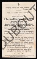 Doodsprentje Pater/Frère Albertus Dionysius Bogaerts °1832 Lier †1898 Mechelen / Leuven (F137) - Décès