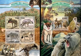 Niger 2013, Animals, Hyenes, 4val In BF +BF - Niger (1960-...)