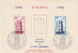 CARTE MAXIMUM - EUROPA - 1956 - Maximum Cards
