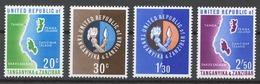 Tanzania 1964 Mi# 1-4** UNION OF TANGANYIKA AND ZANZIBAR - Tanzania (1964-...)
