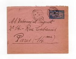 !!! PRIX FIXE : ST PIERRE ET MIQUELON, ENTIER POSTAL DE 1925 POUR PARIS - Postal Stationery