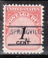 USA Precancel Vorausentwertung Preo, Locals Alabama, Springville 841 - Etats-Unis