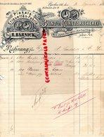 ALLEMAGNE- BERLIN- RARE LETTRE R. BARNICK-BUNT U KUNSTDRUCKEREI-LAGER VON WEIN-LIQUEUR-PARFUMERIE-1890 FABRIK PLAKATE - Allemagne