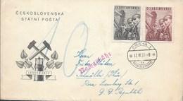 Czechoslovakia - 1951 FDC MINERS DAY - Tchécoslovaquie