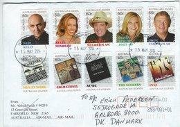 Australien Legends. Cover Sent To Denmark.  H-1424 - Airmail