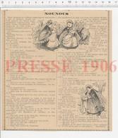 Presse 1906 Humour Costume Bourguignon Nounou Hochet Bébé Rue De Courcelles Avenue De Messine Bourguignonne 223CHV3 - Vieux Papiers