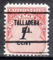 USA Precancel Vorausentwertung Preo, Locals Alabama, Talladega 704 - Vereinigte Staaten